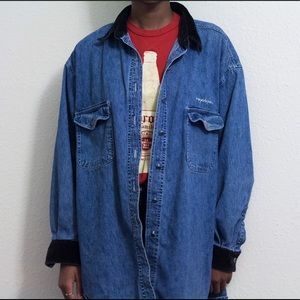 Tops - 🌻SOLD🌻 nyc jeans denim shirt